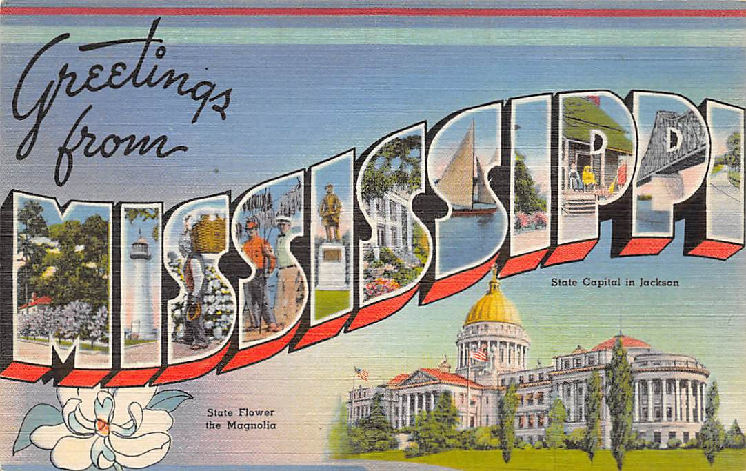 Mississippi MS Postcards
