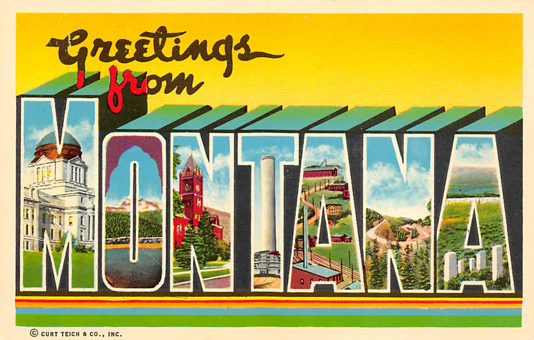 Montana MT Postcards