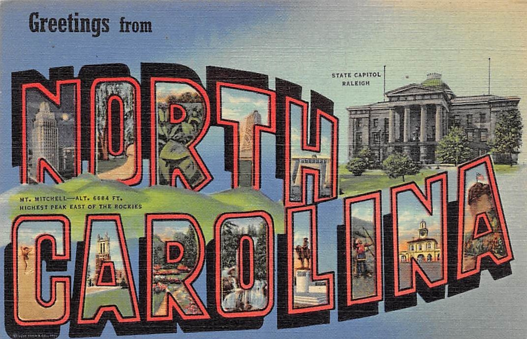 North Carolina NC Postcards