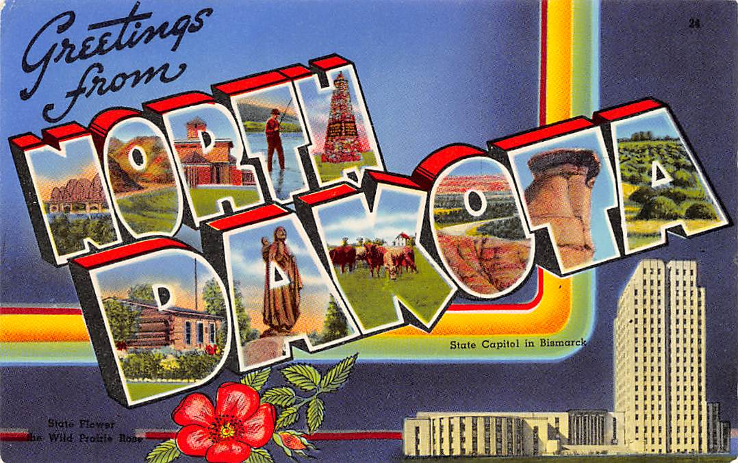 North Dakota ND Postcards