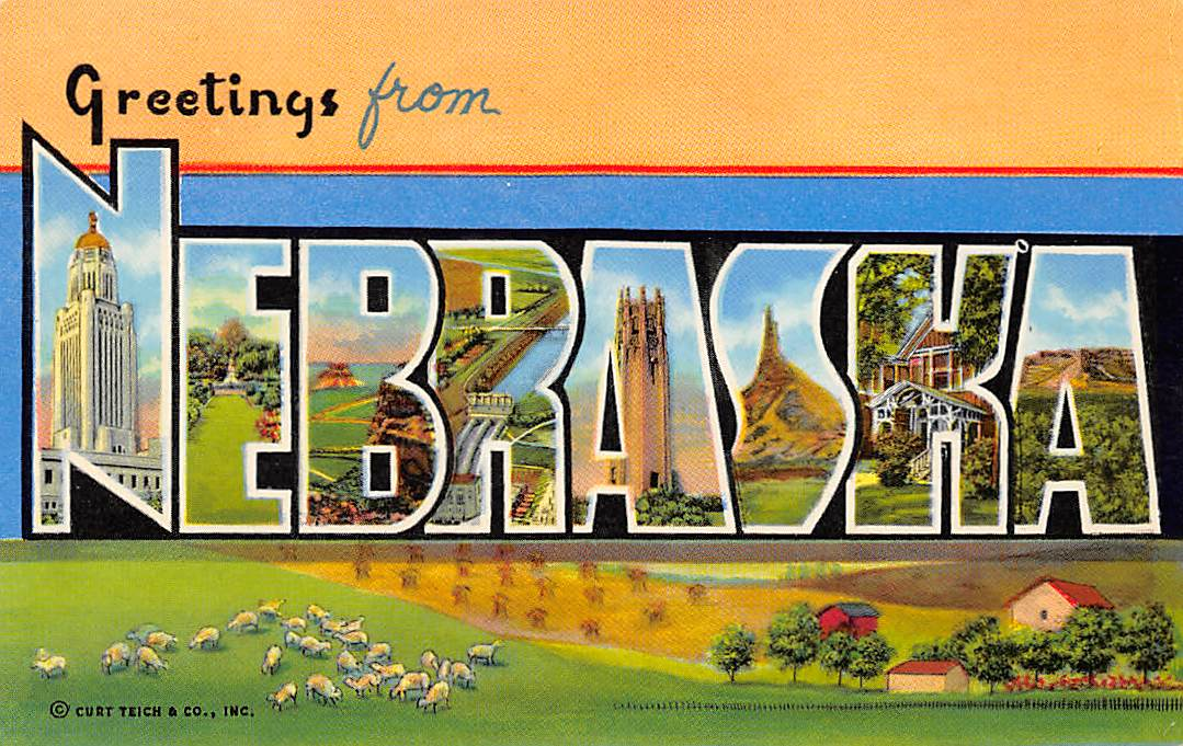 Nebraska NE Postcards