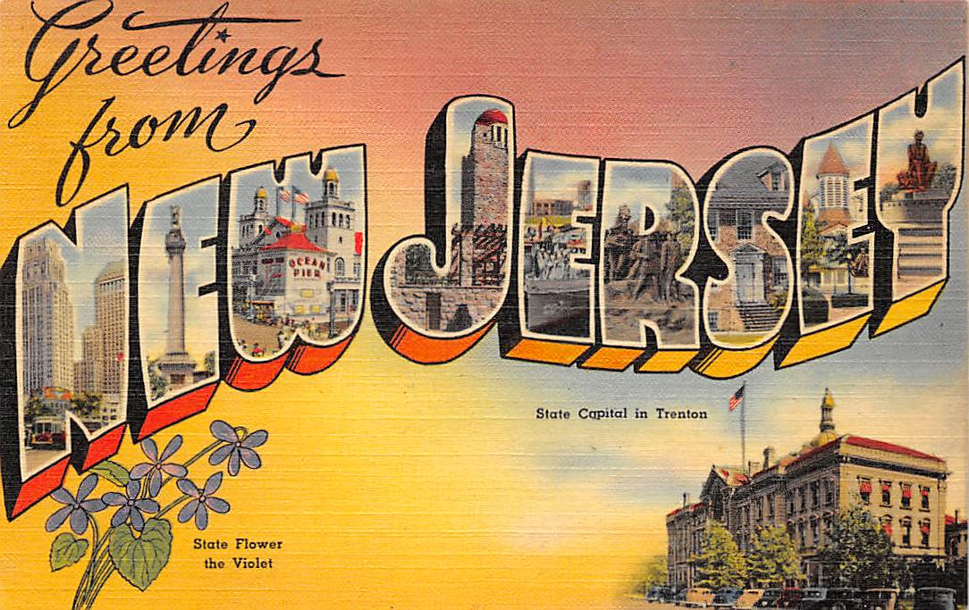 New Jersey NJ Postcards