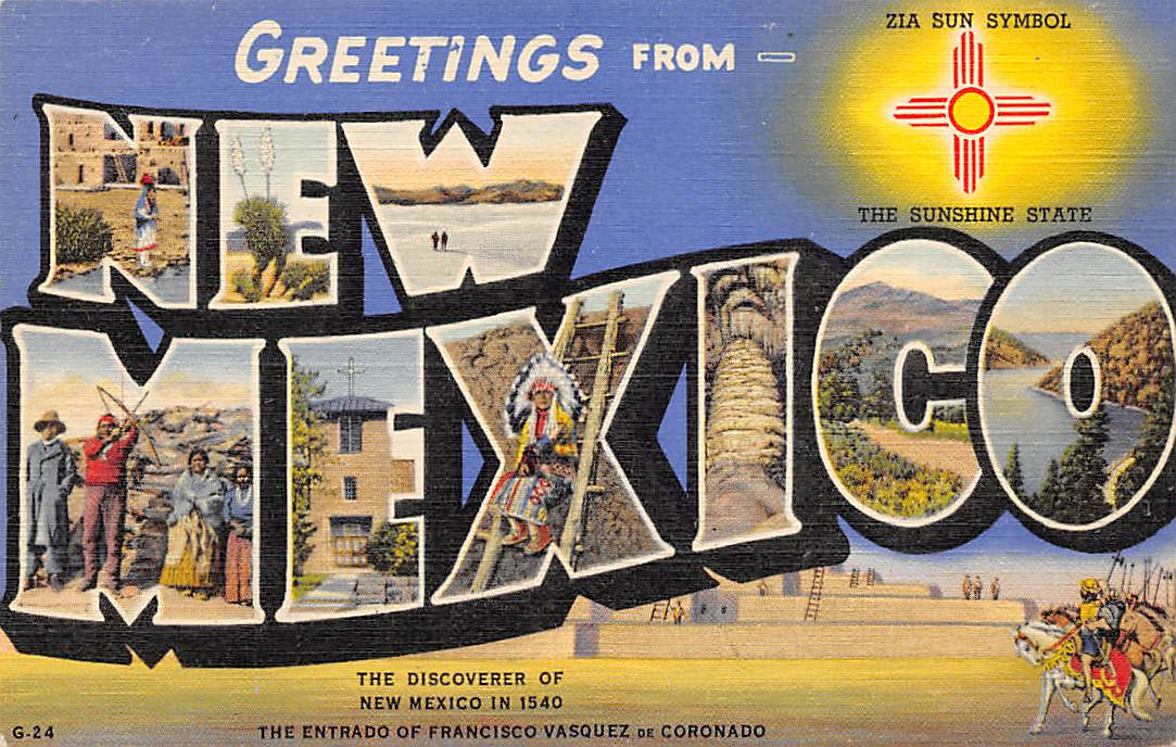 New Mexico NM Postcards