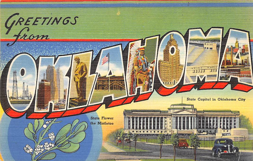 Oklahoma OK Postcards