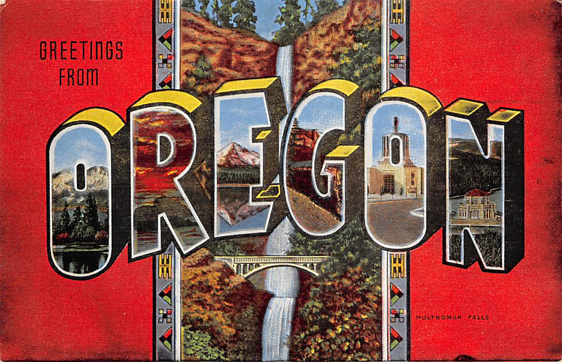 Oregon OR Postcards