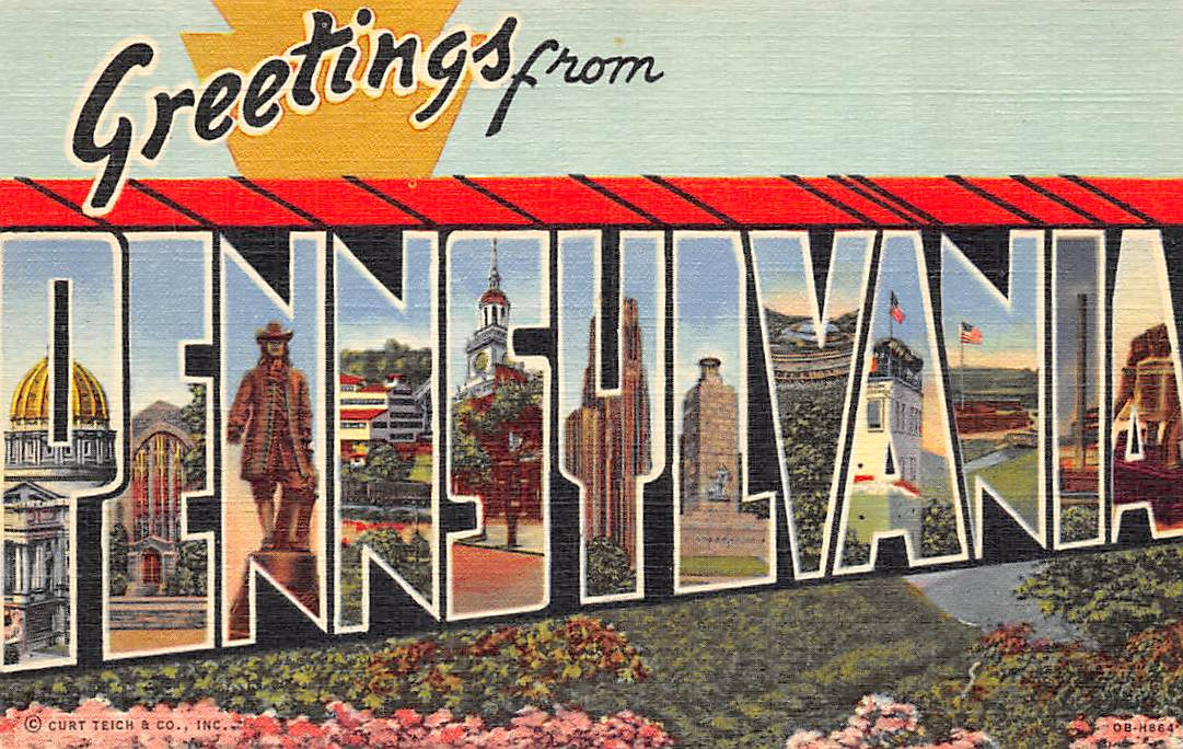 Pennsylvania PA Postcards