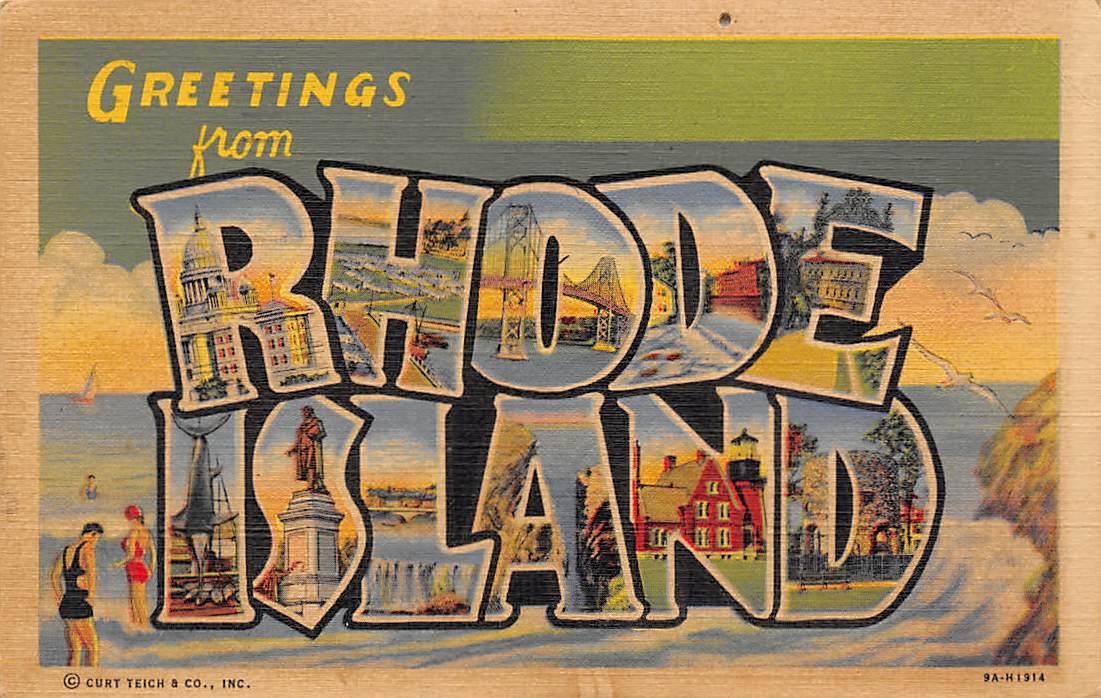 Rhode Island RI Postcards