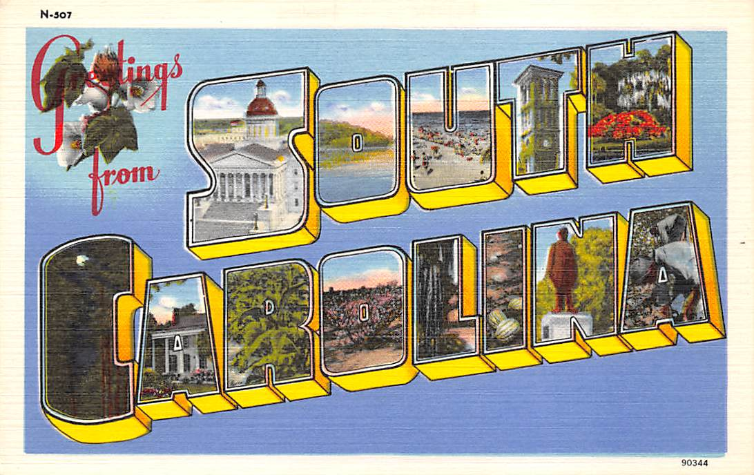 South Carolina SC Postcards