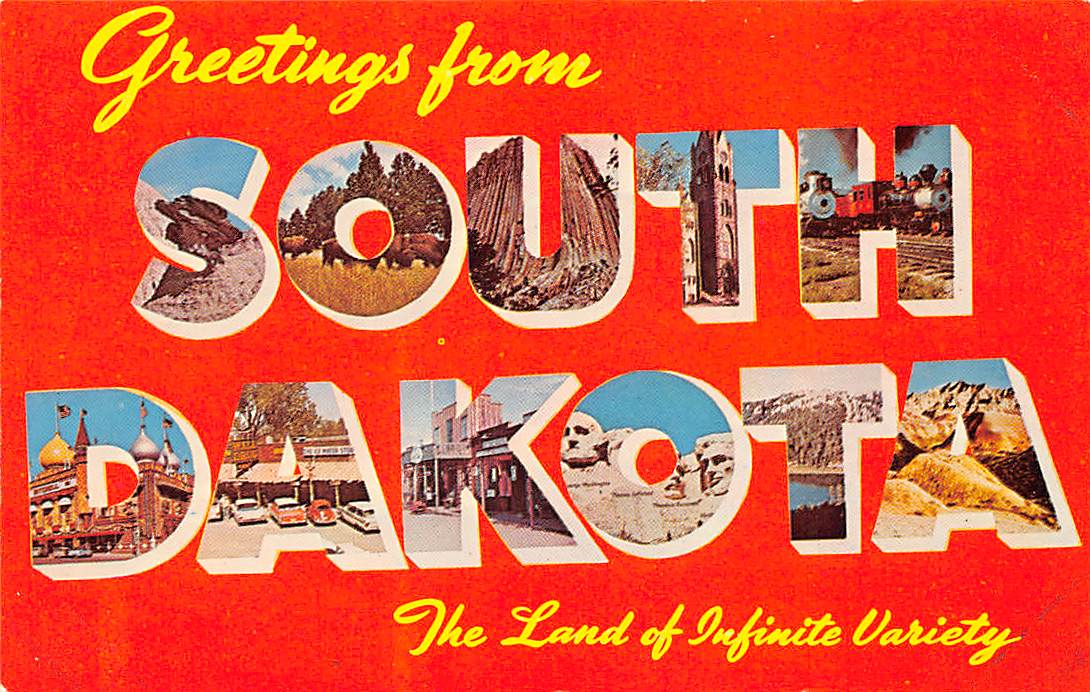 South Dakota SD Postcards