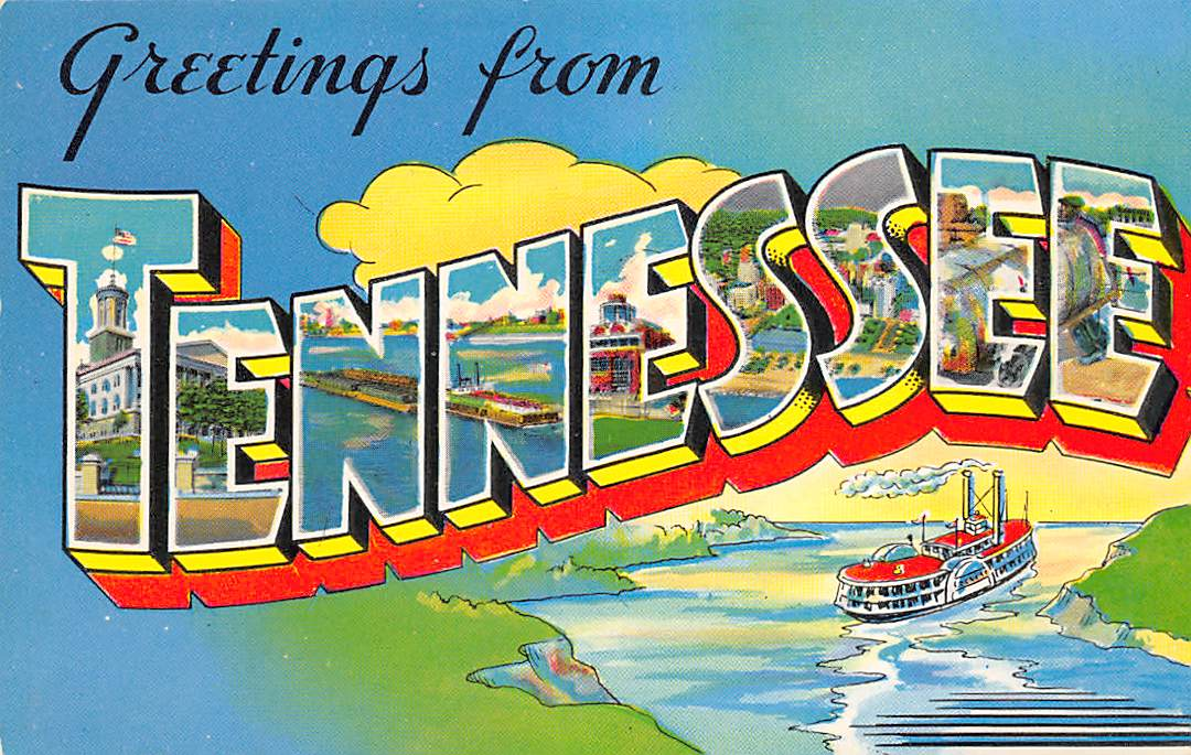 Tennessee TN Postcards