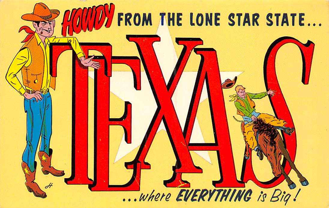 Texas TX Postcards