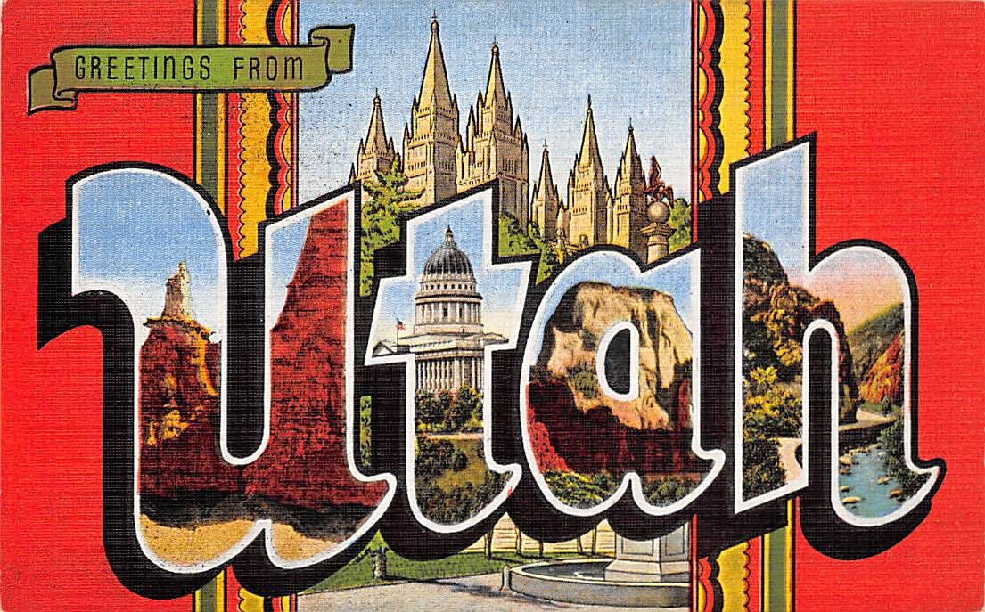 Utah UT Postcards