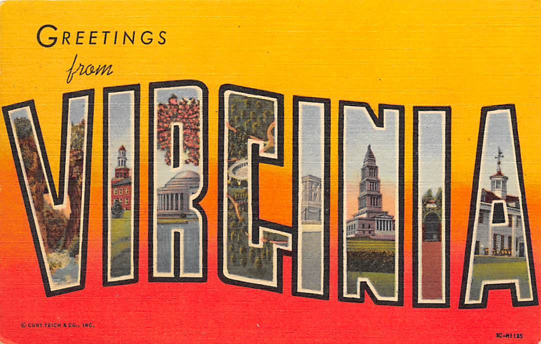 Virginia VA Postcards
