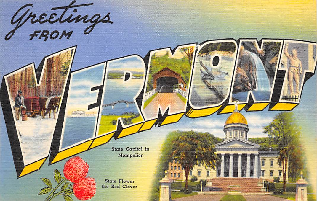 Vermont VT Postcards