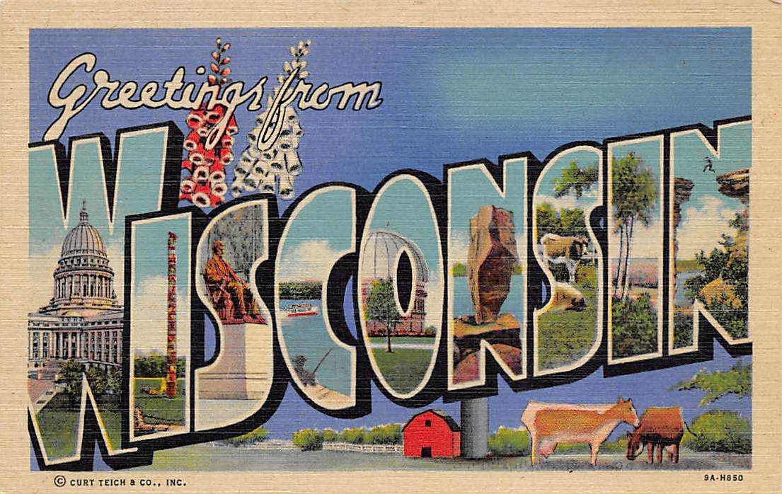 Wisconsin WI Postcards