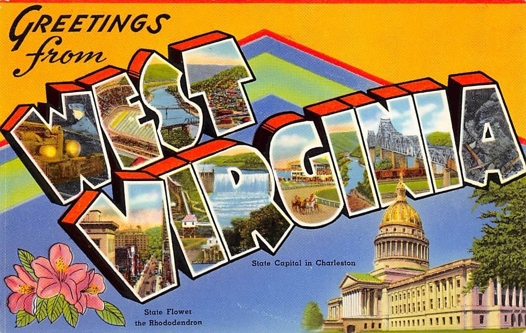 West Virginia WV Postcards
