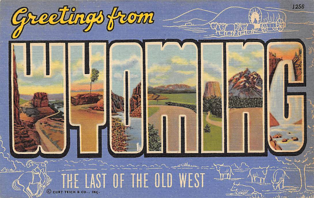 Wyoming WY Postcards