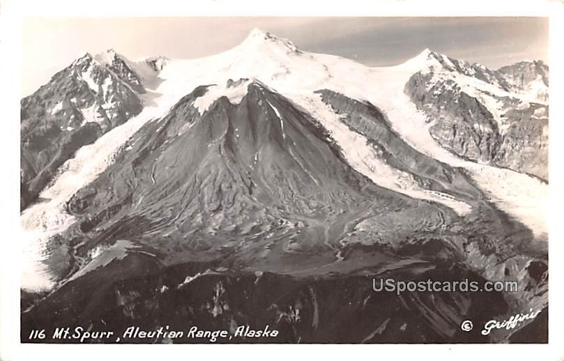 Mount Spur - Aleutian Range, Alaska AK Postcard