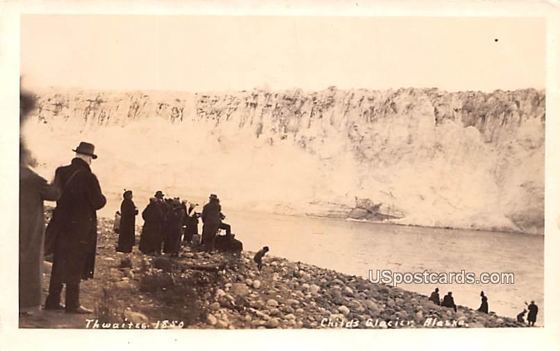 Thwaites 1850 - Childs Glacier, Alaska AK Postcard