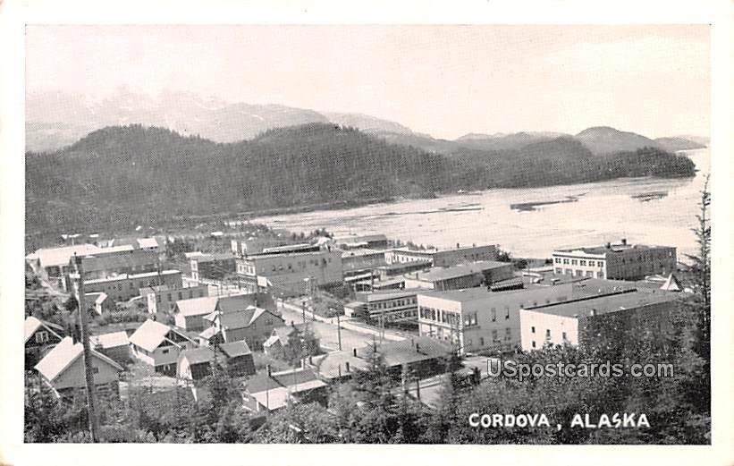 Birds Eye View - Cordova, Alaska AK Postcard