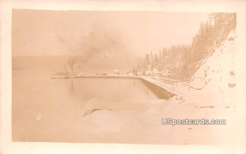 Winter Scene - Cordova, Alaska AK Postcard