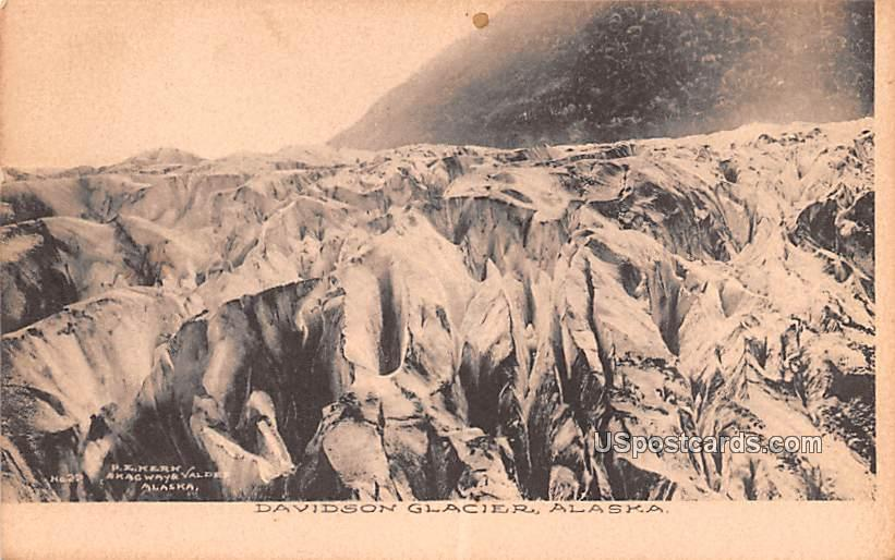 Glacier - Davidson Glacier, Alaska AK Postcard