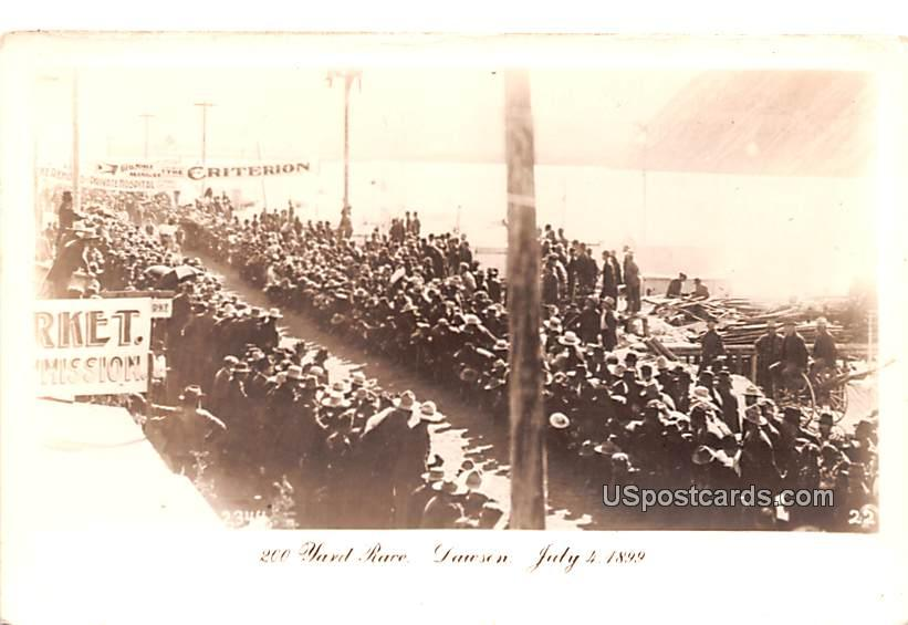 200 Yard Race - Dawson, Alaska AK Postcard