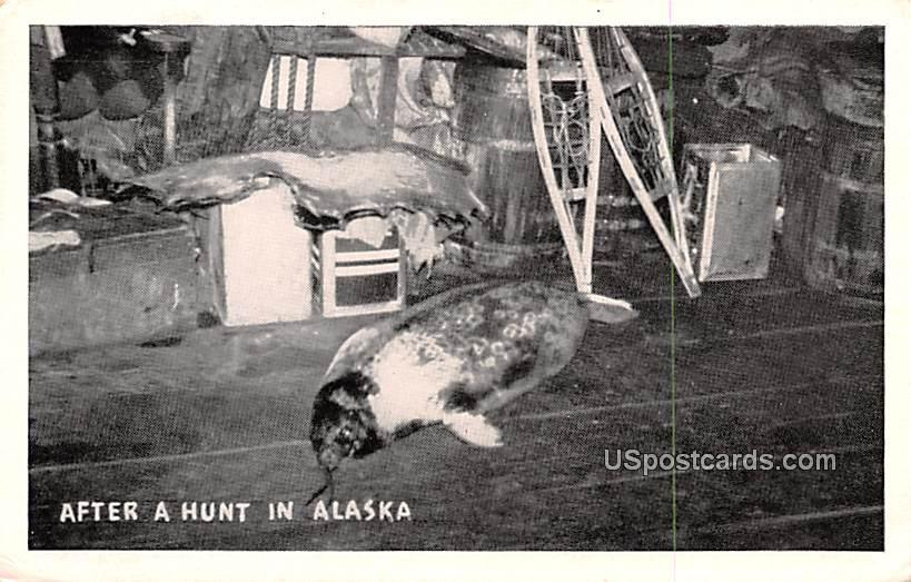 After the Hunt - Misc, Alaska AK Postcard