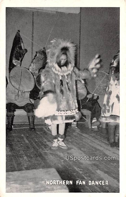 Northern Fan Dancer - Misc, Alaska AK Postcard