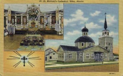 St. Michael's Cathedral - Sitka, Alaska AK Postcard
