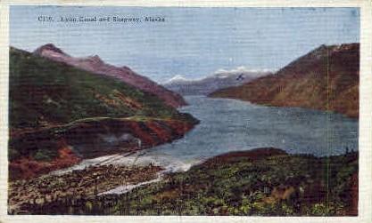 Lynn Canal and Skagway - Skagaway, Alaska AK Postcard