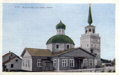 Russian Church - Sitka, Alaska AK Postcard