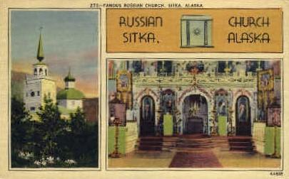 Famous Russian Church - Sitka, Alaska AK Postcard