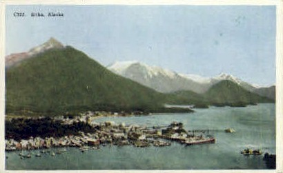 Oldest settlement of Pacific Coast - Sitka, Alaska AK Postcard