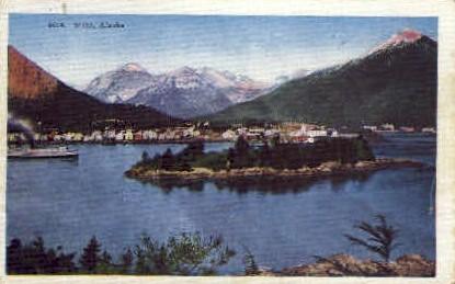 Seaport town - Sitka, Alaska AK Postcard