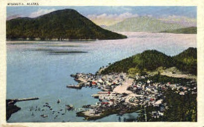 Former old Indian Village - Wrangell, Alaska AK Postcard