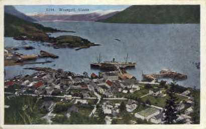 Original Russian Trading Post - Wrangell, Alaska AK Postcard