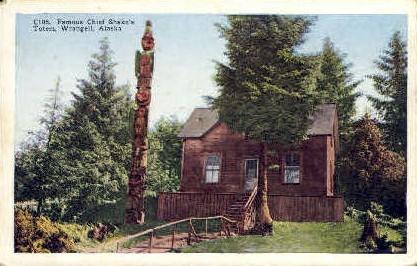 Famous Chief Shake's Totem - Wrangell, Alaska AK Postcard