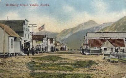 McKinley Street - Valdez, Alaska AK Postcard
