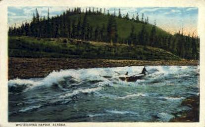 Whitehorse Rapids - Alaska AK Postcard