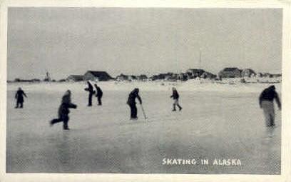 Skating in Alaska - Misc Postcard