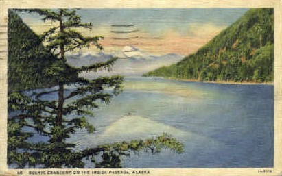 Grandeur on the Inside Passage - Misc, Alaska AK Postcard