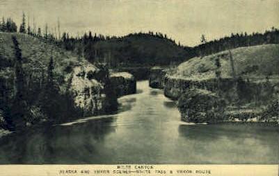 Miles Canyon - Alaska AK Postcard