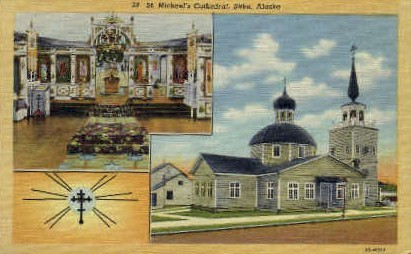 St Michaels Cathedral - Sitka, Alaska AK Postcard