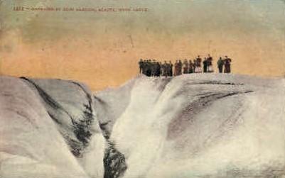 Crevasse in Muir Glacier - Alaska AK Postcard