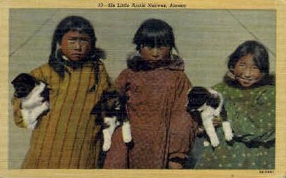 Little Eskimo Natives - Misc, Alaska AK Postcard