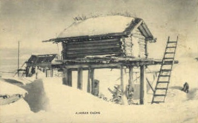 Alaskan Cache - Misc Postcard
