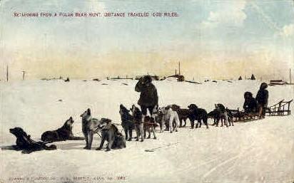 Returning from a polar bear hunt - Misc, Alaska AK Postcard