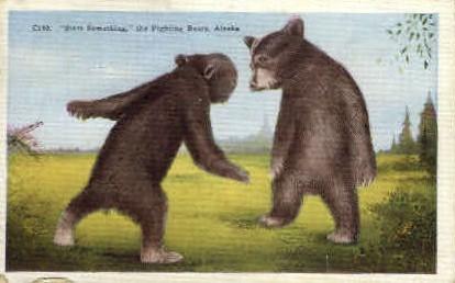 The Fighting Bears - Misc, Alaska AK Postcard