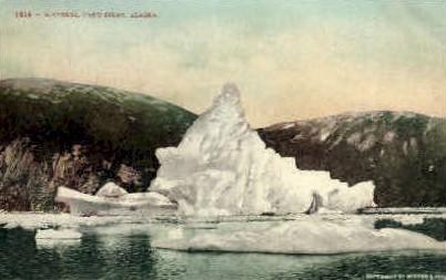 Icebergs - Taku Inlet, Alaska AK Postcard